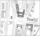 Münster, Freiherr-vom-Stein-Platz 1: Lageplan des neuen Landeshauses des Landschaftsverbandes Westfalen-Lippe, [um 1952]