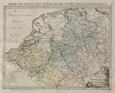 Postkarte von dem Westphaelischen und Burgundischen Kreise / Delineatio Viarum Cursus publici per Circulum Westphalicum et Burgundicum, [1799]