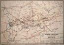 Bergwerks- und Hütten-Karte des Oberbergamtsbezirks Dortmund / Nebst einem alphabetischen Verzeichniss sämmtlicher Ende 1875 in Betrieb stehenden Gruben und der Förderung im Jahre 1875, 1876