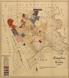 Wettringen: Lageplan [Flurkarte] der Brechte [mit Einzeichnung des Provinzialbesitzes und Erwerbungsjahren], [um 1909]