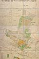 Lengerich/Tecklenburg: Grundbesitz der Provinzialheilanstalt Lengerich [mit Einzeichnung der Nutzungsarten], 1940-11
