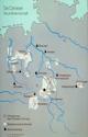 Karte der Grundherrschaft von Kloster Corvey (nach Rösener)