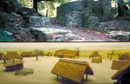 Iburg: Sächsische Volks- und Fluchtburg und die sächsische Siedlung bei Warendorf (Modell) / Münster, Archäologisches Museum (u) / Münster, LWL-Medienzentrum für Westfalen/S. Sagurna
