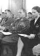 Gauleiter Albert Hoffmann (Mitte) bei einer Festveranstaltung im Saal der Gauleitung Bochum, 23.06.1944 / Lippstadt, Stadtarchiv/W. Nies