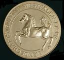 Freiherr-vom-Stein-Medaille des Landschaftsverbandes Westfalen-Lippe (LWL) in Silber, Seite: Westfalenross / Münster, LWL-Medienzentrum für Westfalen/Olaf Mahlstedt