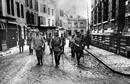 Erster Weltkrieg: Kaiser Wilhelm II. (1859-1941, reg. 1888-1918) [Mitte], Paul von Hindenburg (1847-1934) [links] und General Erich Ludendorff (1865–1937) [rechts] / Münster, LWL-Medienzentrum für Westfalen