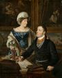 Waldmüller, Ferdinand Georg (1793-1865): Bildnis eines Kartografen mit seiner Frau, 1824 / Münster, LWL-Landesmuseum für Kunst und Kulturgeschichte / Münster, LWL-Landesmuseum für Kunst und Kulturgeschichte