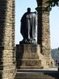 Porta Westfalica: Kaiser-Wilhelm-Denkmal, Standbild von Kaiser Wilhelm I. (1797-1888, reg. ab 1858/1861 bzw. 1871-1888) / Marcus Weidner