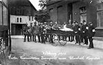 Erster Verwundetentransport zum Elisabeth-Hospital Gütersloh, 1914 / Gütersloh, Stadtarchiv