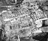 Blick vom Domturm auf die Grabungsfläche der Paderborner Pfalz / Paderborn, Westfälisches Museum für Archäologie/Museum in der Kaiserpfalz