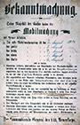 Plakat: Bekanntmachung der kaiserlichen Mobilmachung der Kaiserlichen Armee und Marine des Deutschen Reiches durch den Kommandierenden General des VII. Armeekorps in Münster am 01.08.1914, 1914