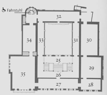 Westfälisches Landesmuseum für Kunst und Kulturgeschichte Münster, Raumplan Altbau, 2. Obergeschoß