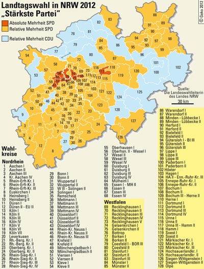 Landtagswahl 2012 Nrw