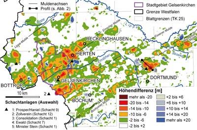 Karte Ruhrgebiet.Lwl Bergsenkungen Im Ruhrgebiet Westfalen Regional