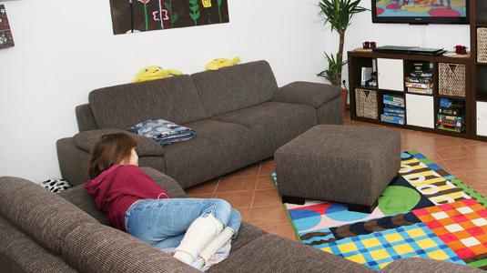 Wohnraum der Wohngruppe Lotte