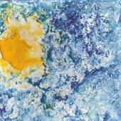 Das Bild zeigt eine Sonne, gmahlt von einem Künstler im Wohnverbund.