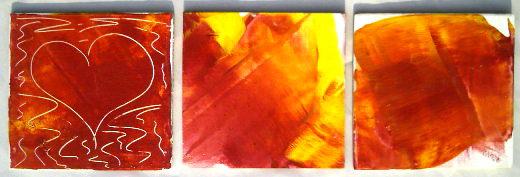 Drei Bilder auf Leinwand aus unserem Kunstprojekt