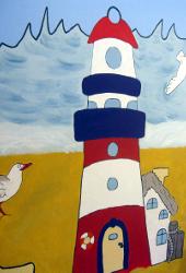 DasBild zeigt einen Leuchtturm