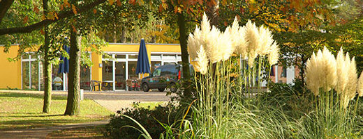 Das bild zeigt das Cafe und Kiosk auf unserem Gelände in Marl