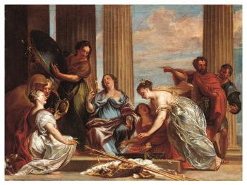 Achilles unter den Töchtern des Lykomedes