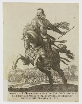 Reiterbildnis Albrecht von Wallenstein (1583–1634) Herzog von Friedland als kaiserlicher General